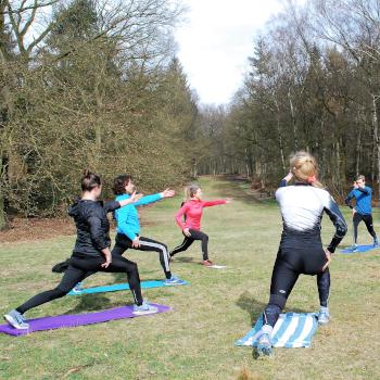 Outdoor Yoga Concentratie