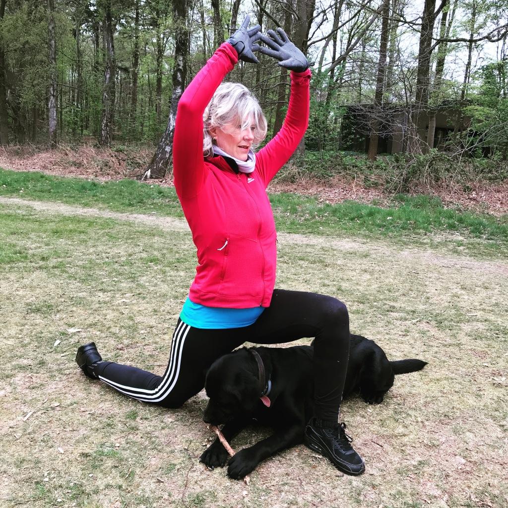 Siep tijdens een outdoor yoga les