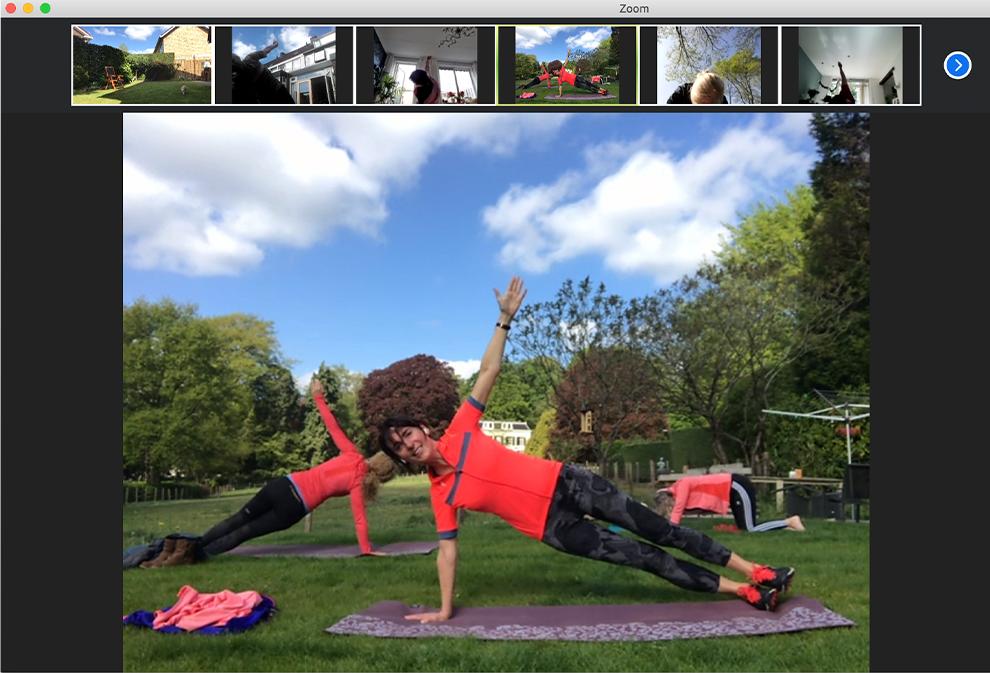 Buiten yoga Zoom les